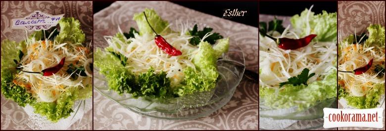 Салат з капусти «Belozerka» з теплою заправкою.