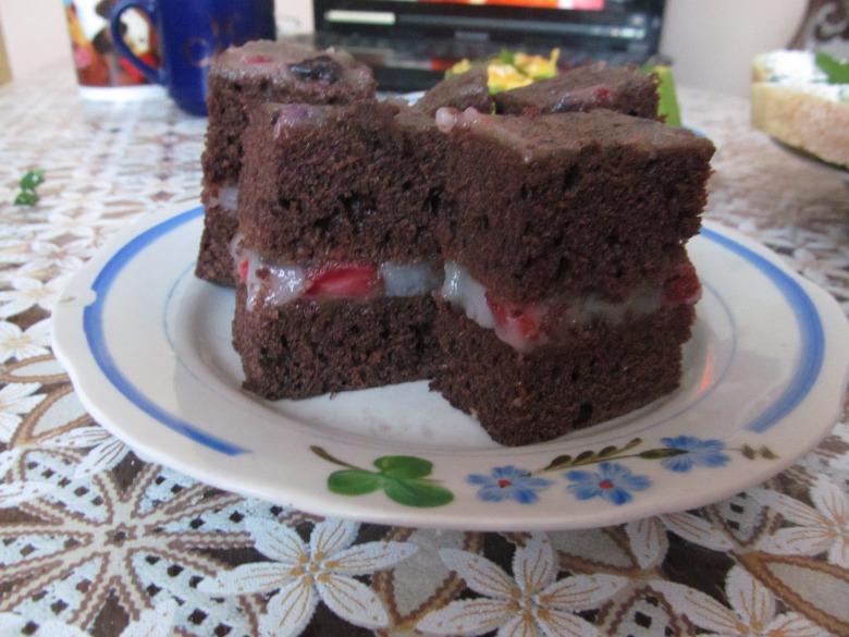 Постный манный крем для торта