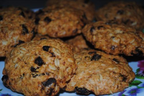 Вівсяне печиво з сухофруктами і гарбузовим насінням