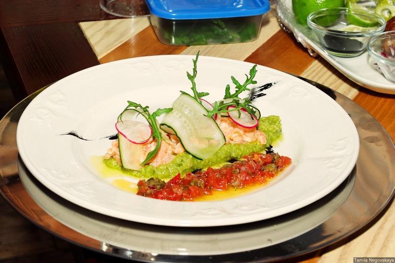 Тартар из лосося по-итальянски