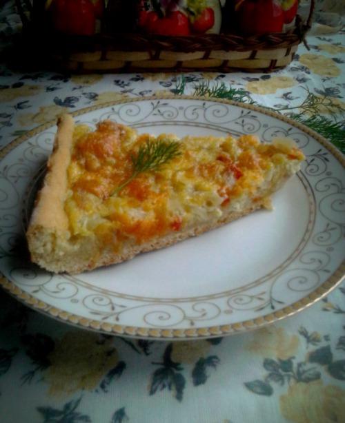 Пирог луковый на кефире