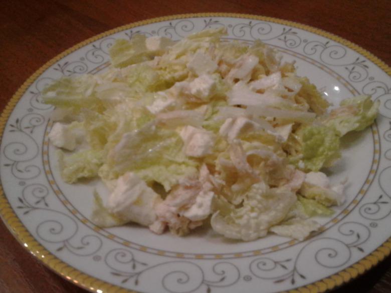 Салат з пекінської капусти з фетою