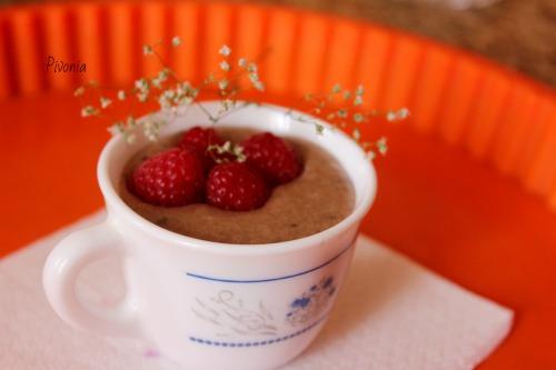 Шоколадно-малиновий десерт