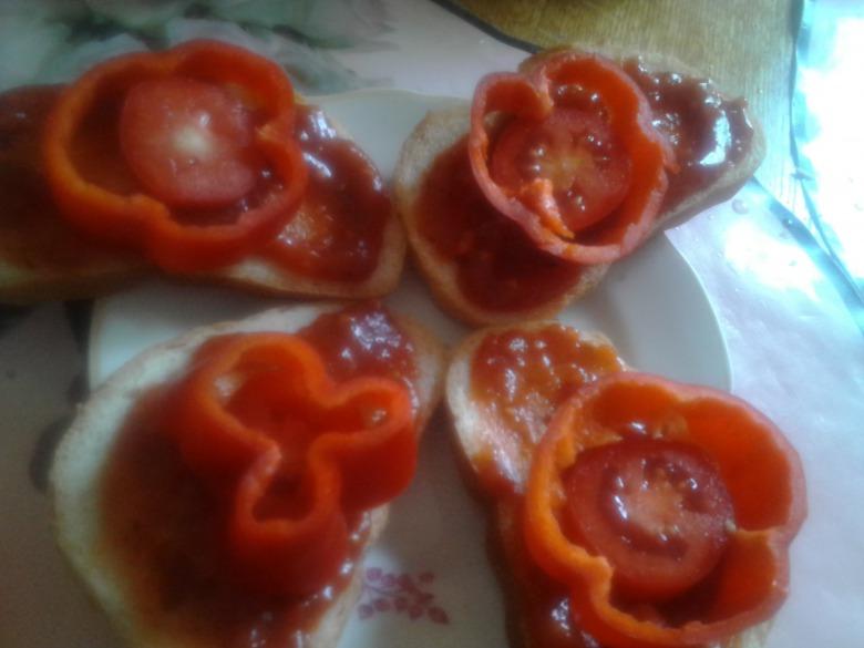 Червоний бутерброд (мій авторський рецепт)