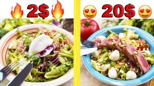Салат з тунцем за 2 $ та за 20 $