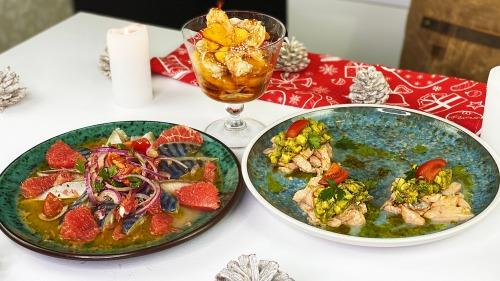 Новинка! Три чудові закуски на Новий рік - Севіче з лосося, скумбрії і креветок