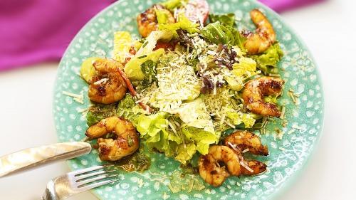 Салат з креветками | Дуже смачний соус для салату