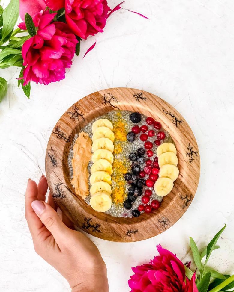 Чіа пудинг з ягодами