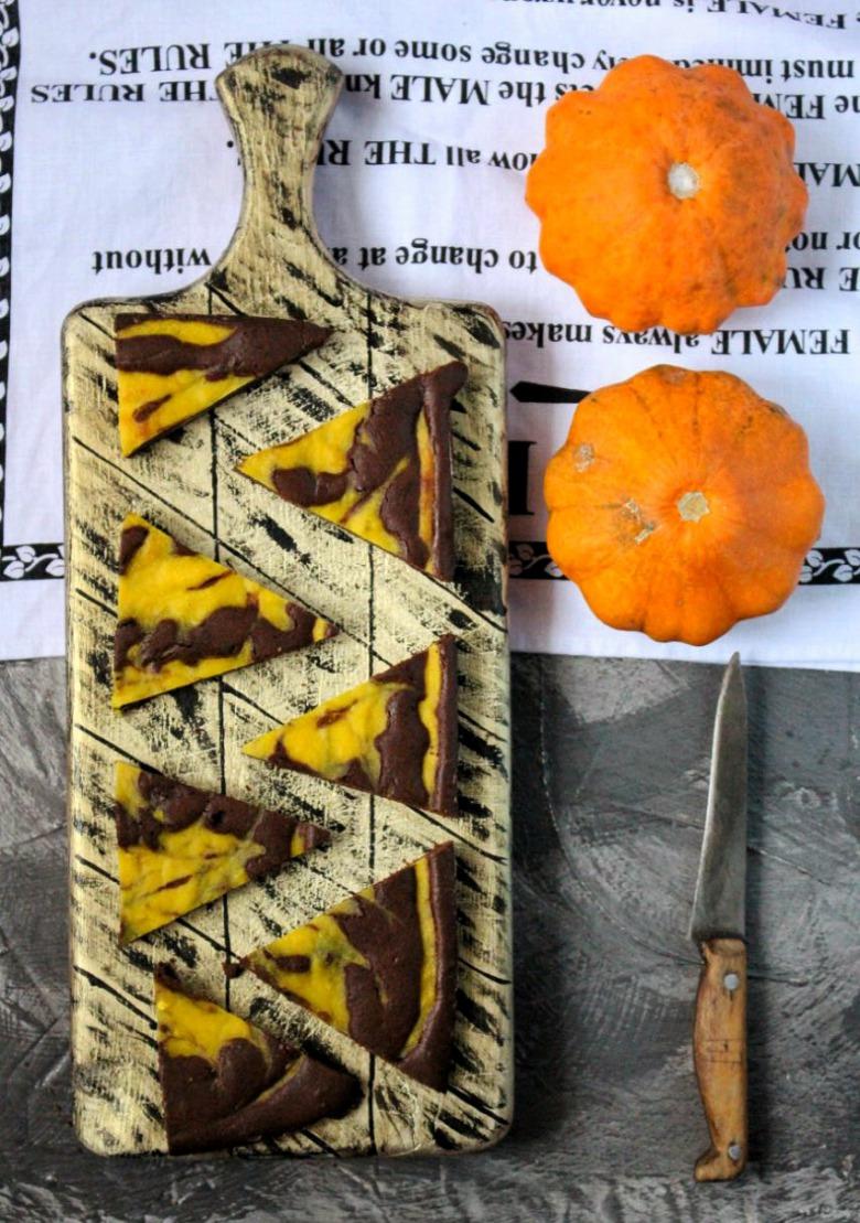 Шоколадний брауні з гарбузовим шаром