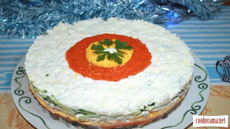 Праздничный салат «Мужской каприз». Новогоднее меню 2020