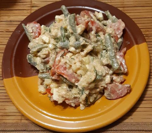 Салат на вечерю з картоплею та оселедцем