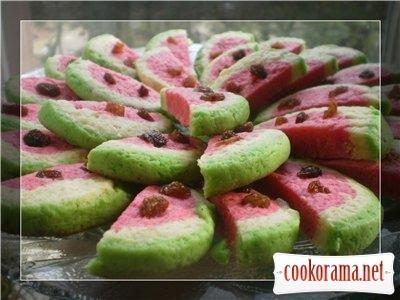 Печенье «Арбузные дольки»