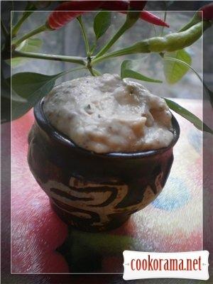 Закуска з печених баклажанів з йогуртом
