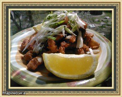 Кальмары с солью и перцем